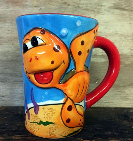 Cute Sea Life Colourful Ceramic Large Mug ~ Turtle